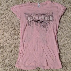 Tops - EUC Hellenbach pink motorcycle t-shirt